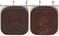 Изображение Монеты Стрейтс-Сеттльмент 1 цент 1919 Бронза VF Георг V