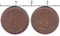 Изображение Монеты Маврикий 1 цент 1971 Бронза XF Елизавета II.