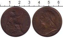 Изображение Монеты Европа Великобритания 1 пенни 1900 Бронза XF