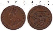 Изображение Монеты Остров Джерси 1/12 шиллинга 1935 Бронза XF Георг V