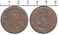 Изображение Монеты Маврикий 1 рупия 1975 Медно-никель XF Елизавета II.