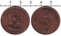 Изображение Монеты Африка Маврикий 5 центов 1971 Бронза XF