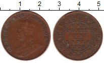 Изображение Монеты Индия 1/4 анны 1936 Бронза VF