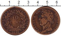 Изображение Монеты Франция Мартиника 10 сантим 1829 Бронза VF