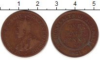 Изображение Монеты Австралия 1/2 пенни 1921 Бронза VF