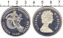 Изображение Монеты Канада 1 доллар 1983 Серебро Proof-