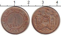 Изображение Монеты Борнео 1 цент 1935 Медно-никель XF