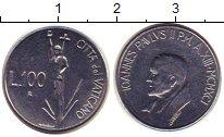 Изображение Монеты Ватикан 100 лир 1991 Сталь UNC-