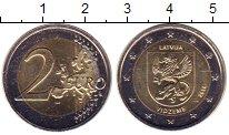 Изображение Мелочь Латвия 2 евро 2016 Биметалл UNC- Видземе.
