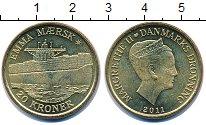 Изображение Монеты Дания 20 крон 2011 Медь UNC Королева  Маргрете I