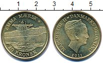 Изображение Монеты Европа Дания 20 крон 2011 Медь UNC