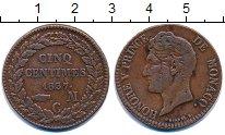 Изображение Монеты Европа Монако 5 сантим 1837 Медь XF