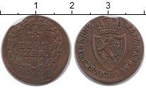 Изображение Монеты Германия Нассау 1/4 крейцера 1818 Медь XF-