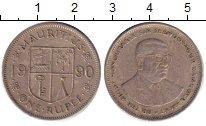 Изображение Дешевые монеты Африка Маврикий 1 рупия 1990 Медно-никель VF