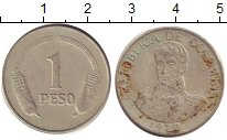 Изображение Дешевые монеты Южная Америка Колумбия 1 песо 1970 Медно-никель VG