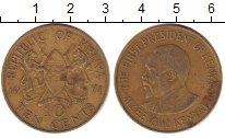 Изображение Дешевые монеты Кения 10 центов 1971 Латунь VF+