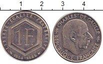 Изображение Дешевые монеты Франция 1 франк 1988 Медно-никель VF+