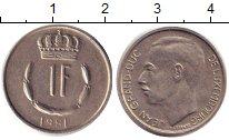 Изображение Дешевые монеты Европа Люксембург 1 франк 1981 Медно-никель XF