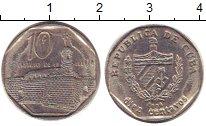 Изображение Дешевые монеты Куба 10 сентаво 2001 Медно-никель XF-