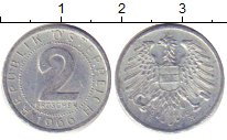 Изображение Дешевые монеты Европа Австрия 2 гроша 1966 Медно-никель VF+