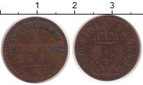 Изображение Монеты Германия Пруссия 1 пфенниг 1846 Медь XF