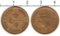 Изображение Монеты Гонконг 10 центов 1949 Латунь XF