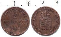 Изображение Монеты Германия Саксен-Майнинген 2 пфеннига 1866 Медь VF