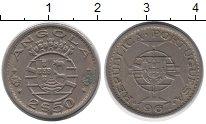 Изображение Монеты Ангола 2 1/2 эскудо 1967 Медно-никель XF Португальская колони