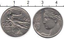 Изображение Монеты Европа Италия 20 чентезимо 1921 Медно-никель XF