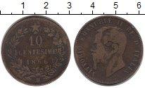 Изображение Монеты Европа Италия 10 сентесим 1866 Бронза VF