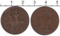 Изображение Монеты Франция 5 сентим 1913 Бронза VF
