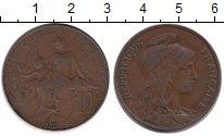 Изображение Монеты Франция 10 сентим 1913 Медь VF