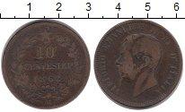Изображение Монеты Европа Италия 10 сентесим 1862 Бронза VF