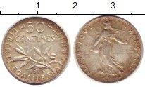 Изображение Монеты Европа Франция 50 сантим 1919 Серебро XF