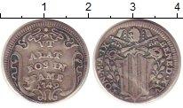 Изображение Монеты Ватикан 1 гроссо 1748 Серебро VF