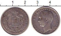 Изображение Монеты Греция 1 драхма 1873 Серебро VF Георг I