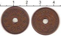 Изображение Монеты Европа Дания 2 эре 1928 Бронза XF