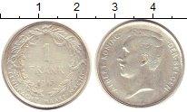 Изображение Монеты Бельгия 1 франк 1912 Серебро VF