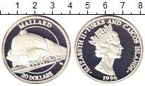 Изображение Монеты Великобритания Теркc и Кайкос 20 долларов 1996 Серебро Proof