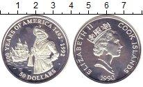 Изображение Монеты Острова Кука 50 долларов 1990 Серебро Proof- Елизавета II.  500
