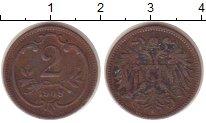 Изображение Монеты Европа Австрия 2 геллера 1908 Бронза XF