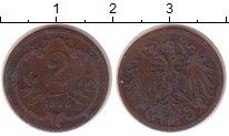 Изображение Монеты Австрия 2 хеллера 1896 Бронза VF