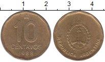 Изображение Монеты Южная Америка Аргентина 10 сентаво 1985 Латунь XF