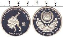 Изображение Монеты Южная Корея 5000 вон 1988 Серебро Proof-