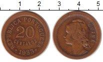 Изображение Монеты Португалия 20 сентаво 1933 Медь VF