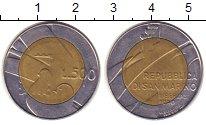 Изображение Монеты Сан-Марино 500 лир 1990 Биметалл XF голубь