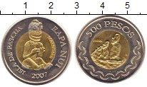 Изображение Мелочь Африка Остров Пасхи 500 песо 2007 Биметалл UNC