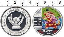 Изображение Монеты Африка Конго 240 франков 2012 Серебро Proof-