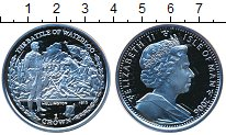 Изображение Монеты Остров Мэн 1 крона 2006 Серебро Proof Елизавета II.  Битва