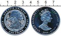 Изображение Монеты Фолклендские острова 1 крона 2006 Серебро Proof Елизавета II.  Горац